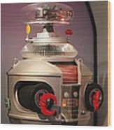 B-9 Robot From Lost In Space Wood Print