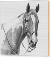 B And W Study Wood Print by JQ Licensing
