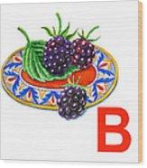 B Art Alphabet For Kids Room Wood Print