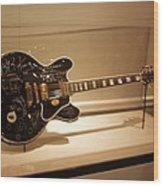 B B King Guitar Wood Print
