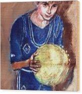 B-ball Wood Print