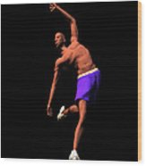 B Baller 2 Wood Print by Walter Oliver Neal