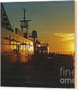 B C Ferries Sunsets Sc3417-13 Wood Print