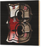 B For Bosox - Vintage Boston Poster Wood Print