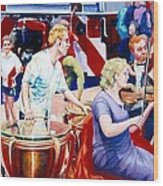 B05. The Drummer Wood Print