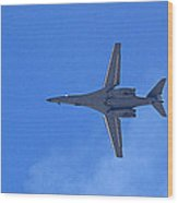 B1-b Lancer In The Skys Over Las Vegas Wood Print