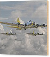 B17 486th Bomb Group Wood Print