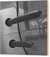 B17 Bomber Side Guns Wood Print