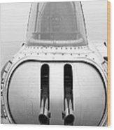 B17 Bomber Tail Guns Wood Print
