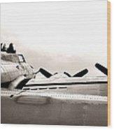 B17 Bomber Wing From Ww II Wood Print