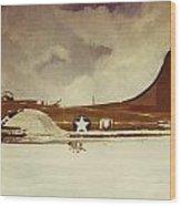 B29 Bomber Wood Print