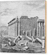 Baalbek Aka Heliopolis, 1845 Wood Print