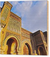 Bab Mansour In Meknes In Morocco Wood Print