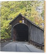Babbs Covered Bridge Wood Print