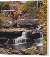 Babcock Grist Mill And Falls Wood Print