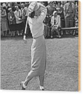 Babe Didrikson Teeing Off Wood Print