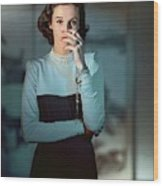 Babe Paley Wearing A Traina-norell Dress Wood Print