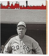 Babe Ruth As Member Of The Boston Red Sox National Photo Company Collection 1919-2013 Wood Print