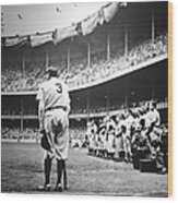 Babe Ruth Poster Wood Print