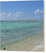 Baby Beach Aruba Wood Print