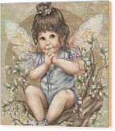 Baby Berry Fairy Wood Print