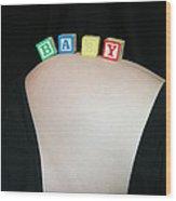 Baby Blocks Color 2 C Wood Print