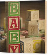 Baby Blocks Wood Print