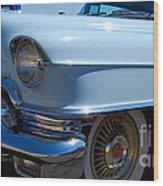 Baby Blue Caddy Wood Print