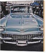 Baby Blue Cadillac Wood Print