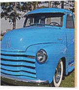 Baby Blue Chevy From 1950 Wood Print
