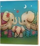 Baby Elephant Wood Print by Karin Taylor