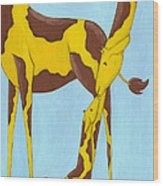 Baby Giraffe Nursery Art Wood Print