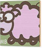 Baby Lamb Nursery Art Wood Print by Nursery Art