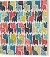 Baby Llamas Wood Print