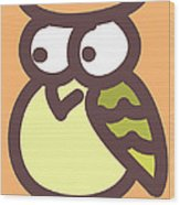 Baby Owl Nursery Wall Art Wood Print by Nursery Art