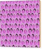Baby Pink Wood Print by Ricky Sencion