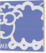 Baby Room Art - Lamb Wood Print by Nursery Art