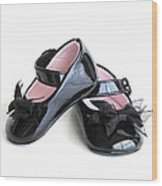 Baby Shoes Wood Print