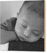 Baby Sleeps Wood Print