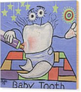 Baby Tooth Wood Print by Anthony Falbo