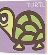 Baby Turtle Nursery Wall Art Wood Print