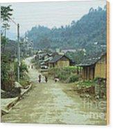 Bac Ha Town Wood Print