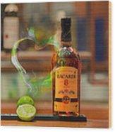 Bacardi And Lime In Love Wood Print