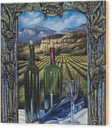 Bacchus Vineyard Wood Print