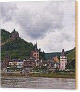 Bacharach Am Rhein And Burg Stahleck Wood Print