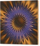 Bachelor Button Mandala Wood Print