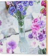 Bachelor Flowers Wood Print
