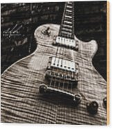 Back Alley Blues Wood Print