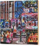 Back Alley Canvas Wood Print