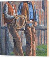 Back At The Ranch Wood Print